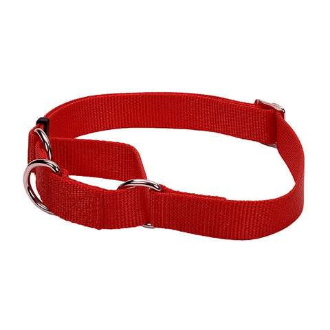 No! Slip Martingale Adjustable Nylon Collar Red