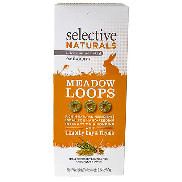 Selective Naturals Meadow Loops with Timothy Hay & Thyme Rabbit Natural Crunchy Treats