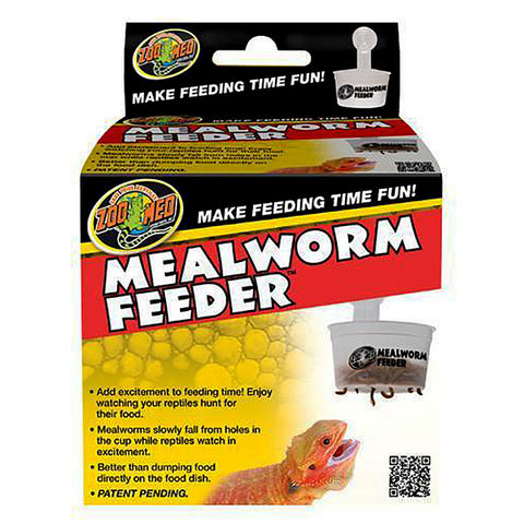 Mealworm Feeder Slotted Reptile Dish With Suction Cup