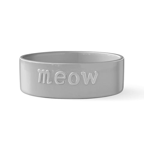 "PetShop ""Meow"" Ceramic Grey Cat Bowl"
