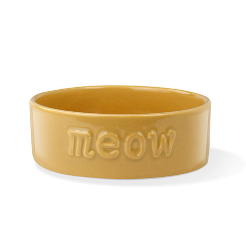 "PetShop ""Meow"" Ceramic Yellow Cat Bowl"