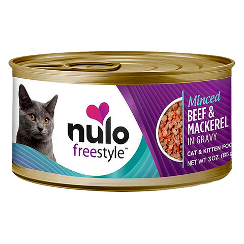 Freestyle Minced Beef & Mackerel Recipe in Gravy Grain-Free Canned Cat Food
