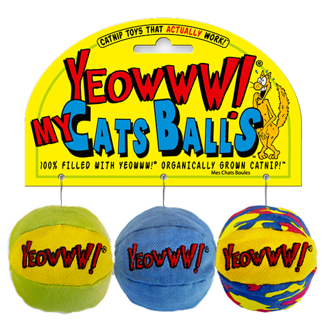 My Cat's Balls Multicolor Organic Catnip Ball Toys