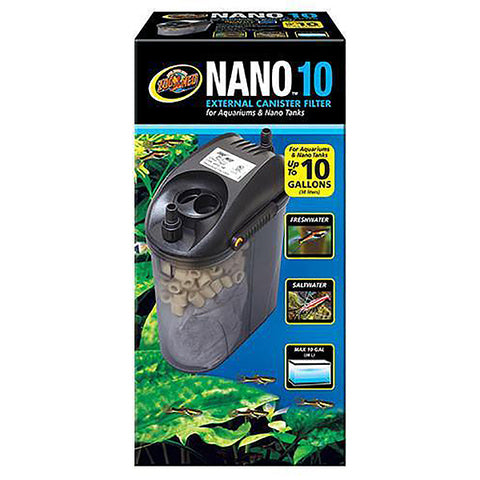 Nano 10 External Canister Aquarium Filter 80 GPH