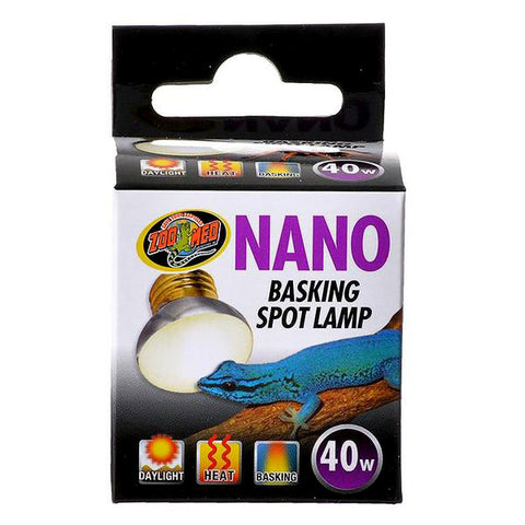 Nano Basking Spotlight Bulb Reptile Light & Heat Emitter 40 Watt