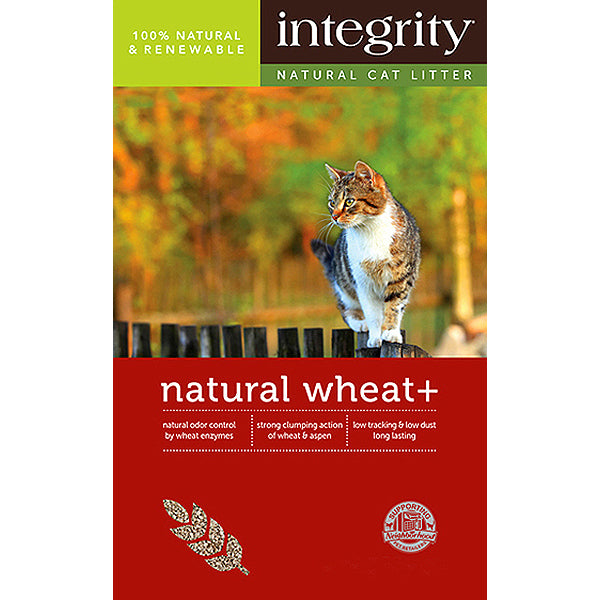 Natural Wheat + Clumping Cat Litter