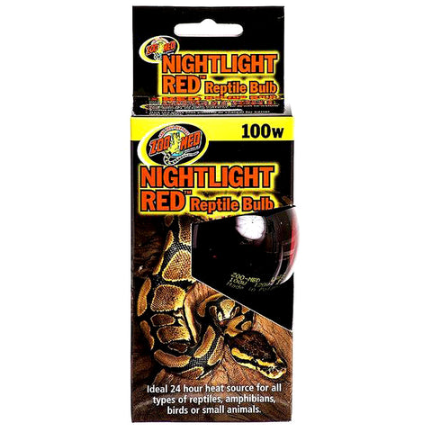 Nightlight Red Reptile Bulb Light & Heat Emitter 100 Watt