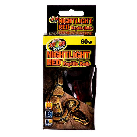 Nightlight Red Reptile Bulb Light & Heat Emitter 60 Watt