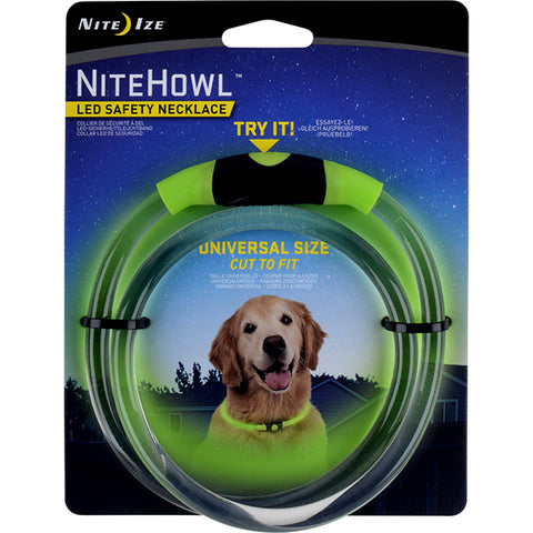 NiteHowl LED Safety Necklace Universal Size Green