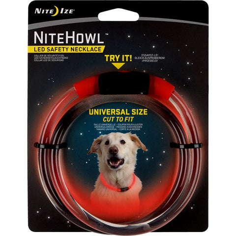 NiteHowl LED Safety Necklace Universal Size Red
