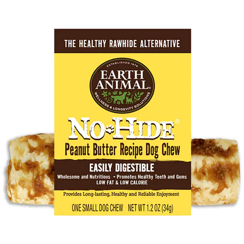 No-Hide Peanut Butter Rawhide Alternative Dog Chew