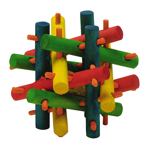 Nut Knot Nibbler Multicolor Wood Small Animal Chew Toy