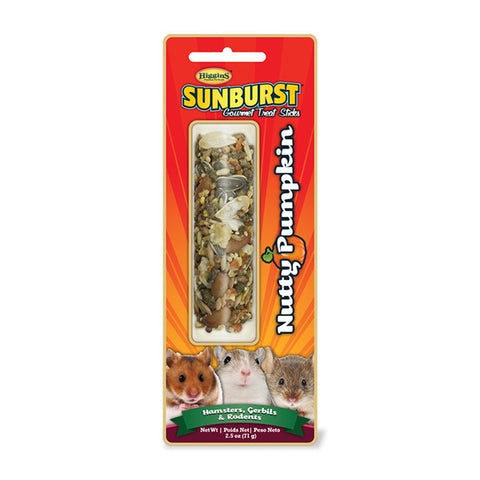Sunburst Nutty Pumpkin Gourmet Small Animal Treat Stick for Hamsters, Gerbils & Rodents