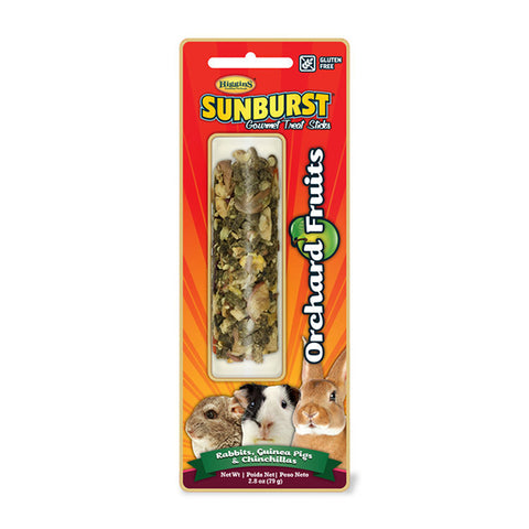 Sunburst Orchard Fruits Gourmet Small Animal Treat Sticks for Rabbits, Guinea Pigs, & Chinchillas