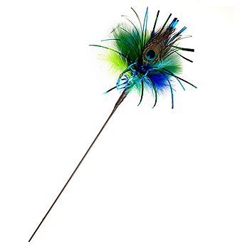 Peacock Sparkler Wand Cat Toy