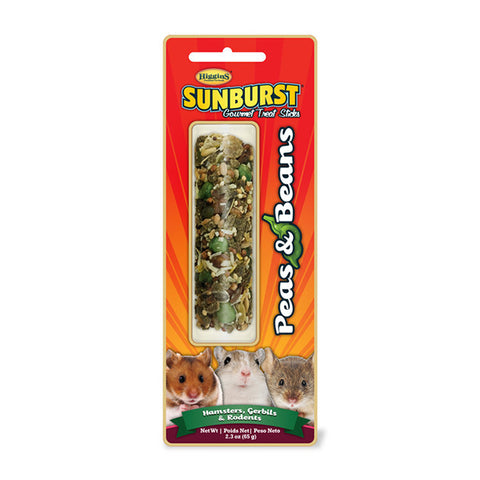 Sunburst Peas & Beans Gourmet Small Animal Treat Stick for Hamsters, Gerbils & Rodents