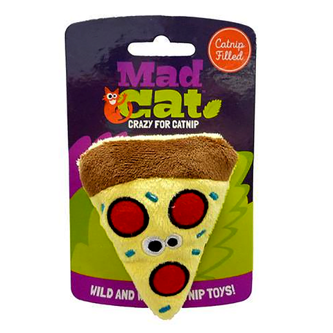 Mad Cat Peppurroni Pizza Catnip & Silvervine Plush Cat Toy