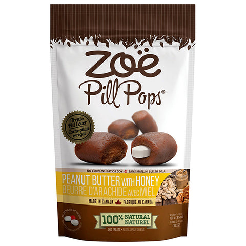 Pill Pops Peanut Butter With Honey Soft Dog Treats