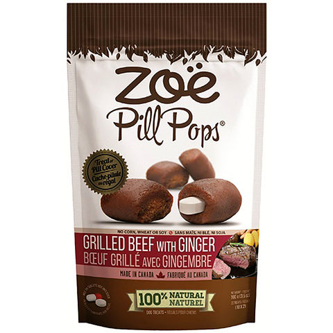 Pill Pops Grilled Beef With Ginger Soft Dog Treats