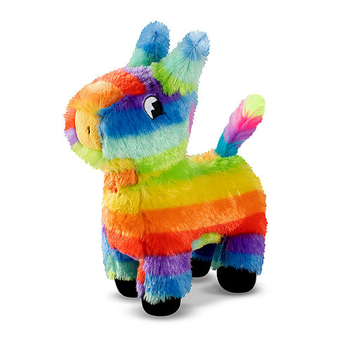 PetShop Full O' Fun Pinata Boy Squeaky & Fuzzy Plush Dog Toy Rainbow