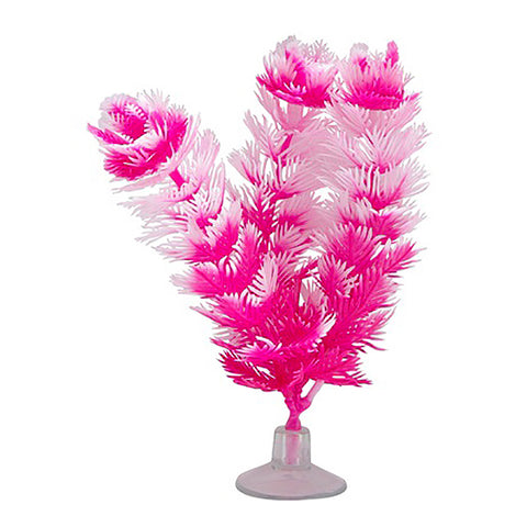 Plastic Betta Plant Vibrascaper Foxtail Pink Aquarium Decor Ornament