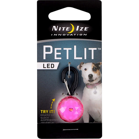 PetLit LED Collar Attachment Pink Jewel