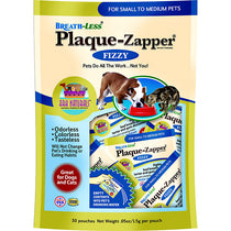 Breath-Less Plaque Zapper Fizzy Dental Water Additive for Dogs & Cats