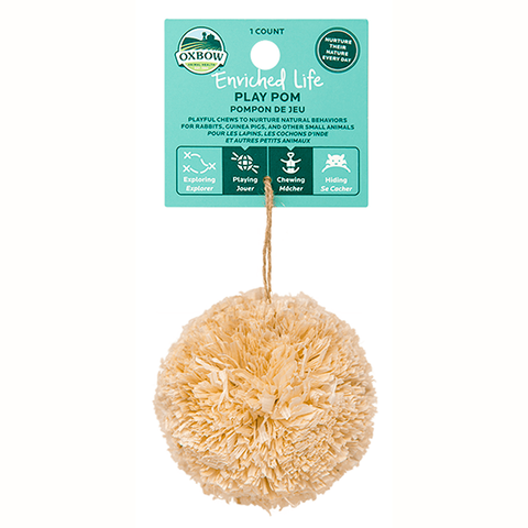 Enriched Life Natural Play Pom Small Animal Chew & Toy