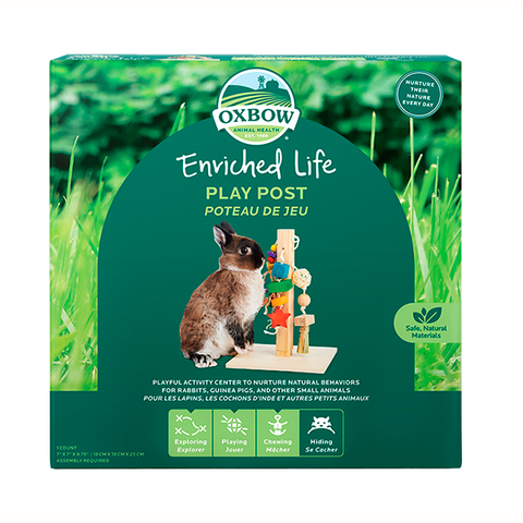 Enriched Life Play Post Wood Small Animal Chew & Toy