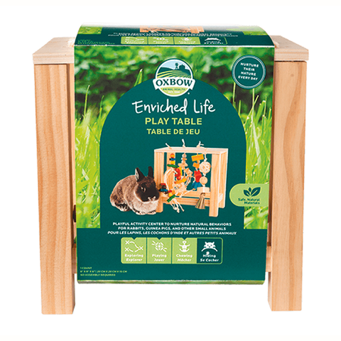 Enriched Life Play Table Wood Small Animal Chew & Toy