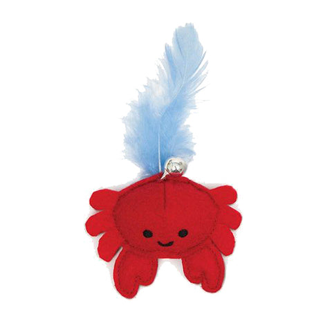 Play Pirates Catnip Plush Crab Cat Toy