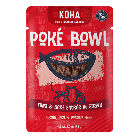 Poke Bowl Grain-Free Tuna & Beef Entree in Gravy Wet Pouch Cat Food