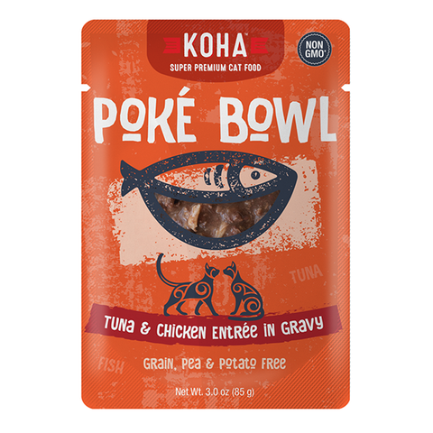 Poke Bowl Grain-Free Tuna & Chicken Entree in Gravy Wet Pouch Cat Food