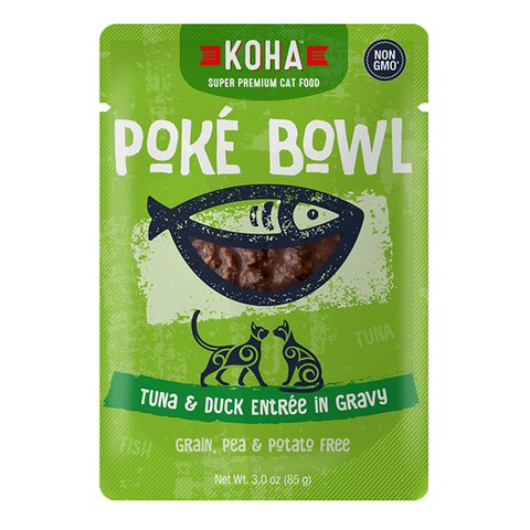 Poke Bowl Grain-Free Tuna & Duck Entree in Gravy Wet Pouch Cat Food