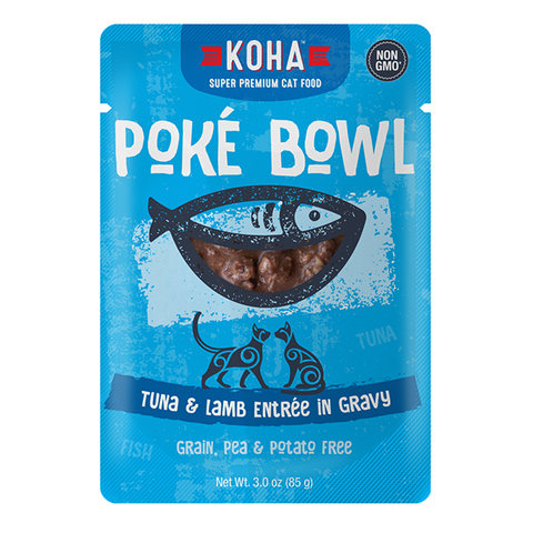 Poke Bowl Grain-Free Tuna & Lamb Entree in Gravy Wet Pouch Cat Food