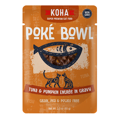 Poke Bowl Grain-Free Tuna & Pumpkin Entree in Gravy Wet Pouch Cat Food