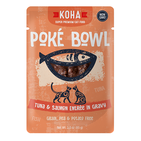 Poke Bowl Grain-Free Tuna & Salmon Entree in Gravy Wet Pouch Cat Food
