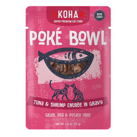Poke Bowl Grain-Free Tuna & Shrimp Entree in Gravy Wet Pouch Cat Food