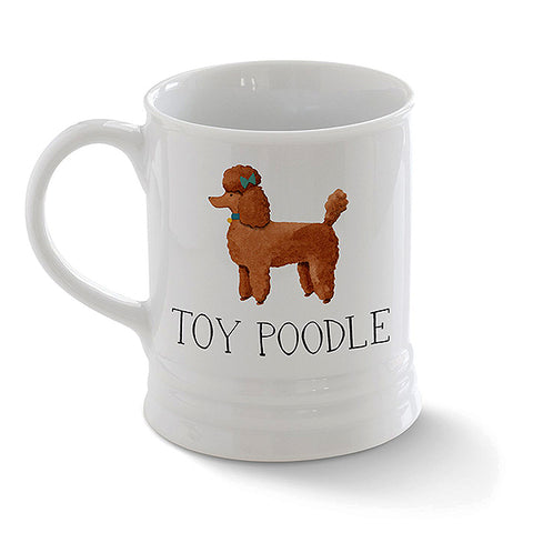 PetShop Julianna Swaney Art Toy Poodle White Ceramic Mug