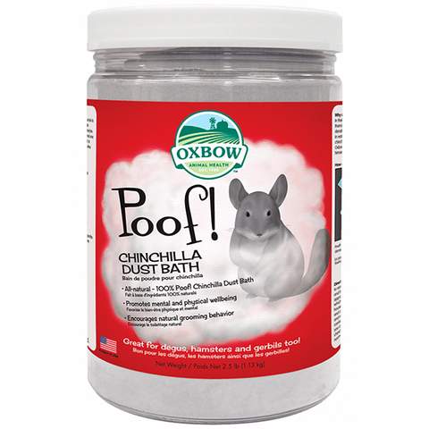 Poof! Chinchilla Dust Bath Grooming Powder