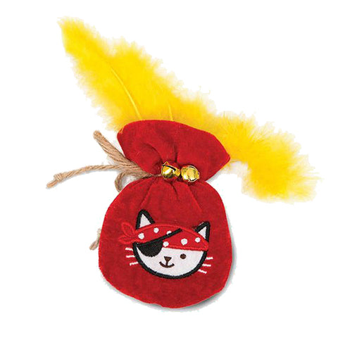 Play Pirates Catnip Plush Gold Pouch Cat Toy