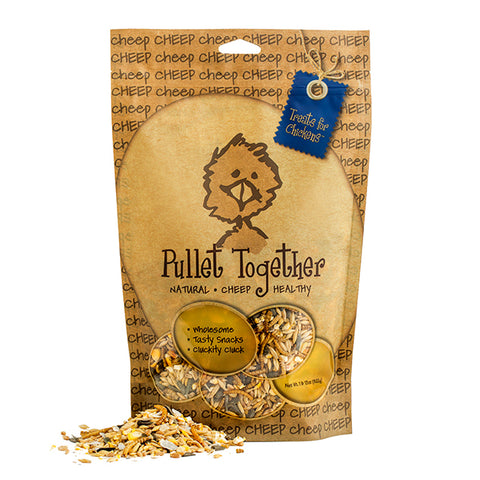 Cheep Pullet Together Seed, Grain, Corn, Oyster Shell & Mealworm Poultry Treat