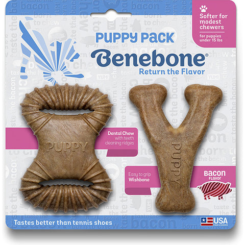 Puppy Pack Bacon Flavored Nylon Dental Chew Dog Toys