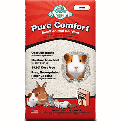 Pure Comfort Small Animal White Paper Bedding Substrate