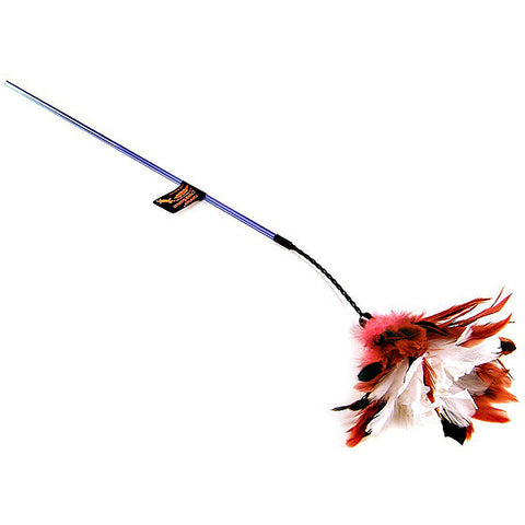 PURRfect CrinkleBouncer Feather Wand Cat Toy
