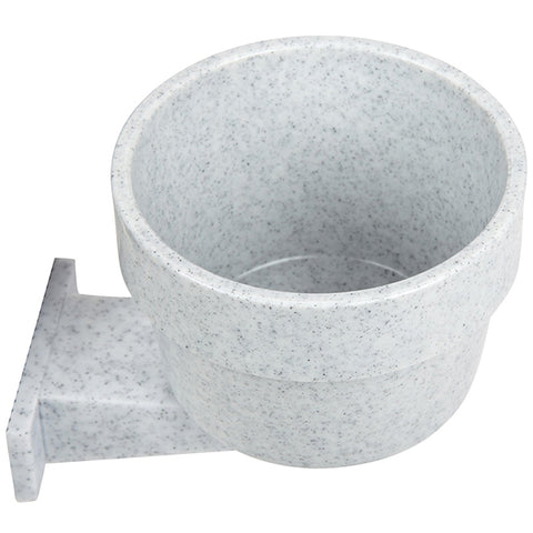 Quick-Lock Crock Polystyrene Mountable Small Animal & Bird Dish Grey