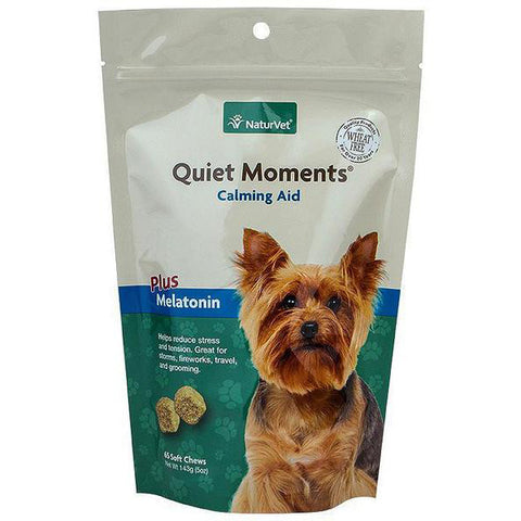 Quiet Moments Calming Aid Plus Melatonin Dog Soft Chews