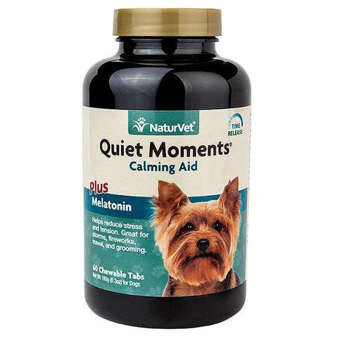 Quiet Moments Calming Aid Plus Melatonin Dog Chewable Tablets