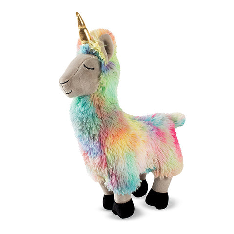 PetShop Llamacorn Squeaky & Fuzzy Plush Dog Toy Rainbow