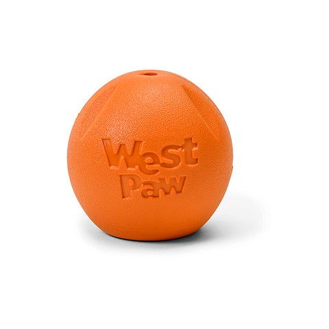 Rando Flat-Bottomed Hollow Erratic Ball Dog Toy Orange